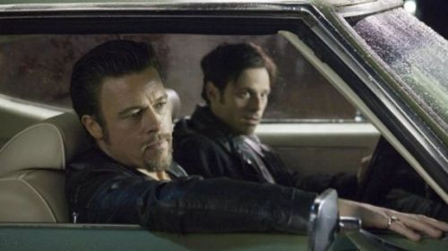Brad Pitt and Scoot McNairy in Killing Them Softly